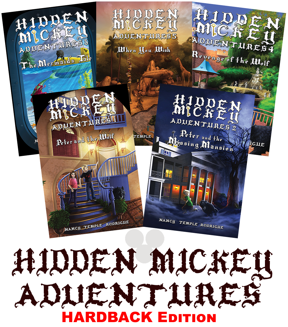 Hidden Mickey novels are available in Hardback paperback and eBook
